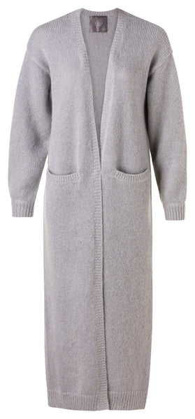 YAYA Maxi Cardigan - Medium Grey Melange