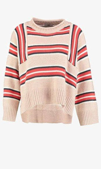 Noa Noa Striped Knit - Art Rosa
