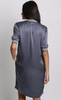 Yaya Dress Rib Zipper - blueish grey