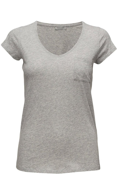 Hunkydory V-T Jersey- Light Grey Mel