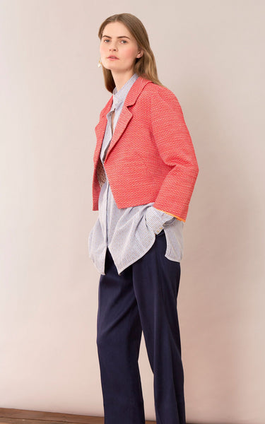 Noa Noa Weave Suit Jacket - Art Red