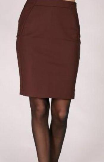 Coster Copenhagen Pencil Skirt - Augergine
