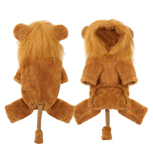 Cute pet warm plush clothes