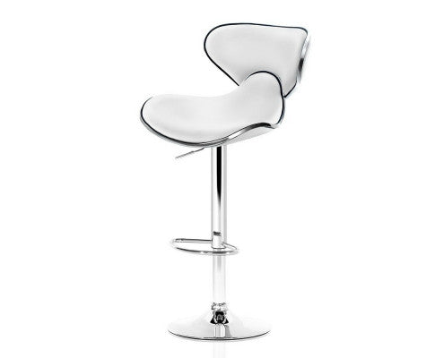 2 x Faux Leather Swivel Bar Stool