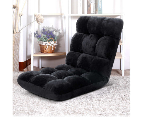 Floor Reclining Futon - Black - OUT OF STOCK