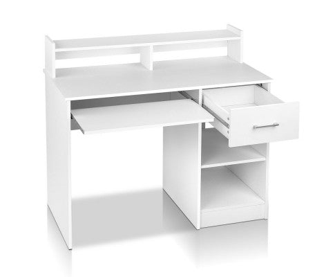 Office Desk with Storage - White