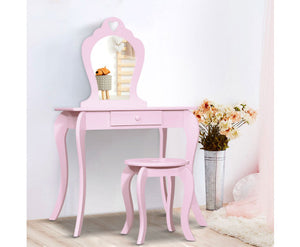 Kids Dressing Table & Stool - Pink - OUT OF STOCK