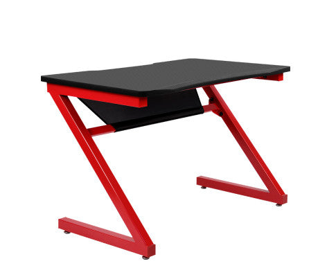 Gaming Station - Carbon Fiber Desk - Black & Red - OUT OF STOCK