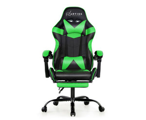 Reclining Office / Gaming Chair - Black & Green