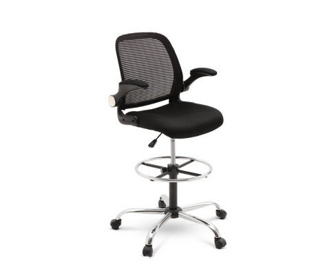 Drafting Office Chair - Black - OUT OF STOCK