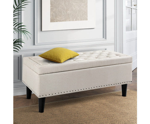 Artiss Ottoman with Storage - Taupe