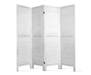 4 Panel Room Divider - White - OUT OF STOCK
