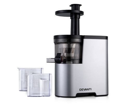Devanti Cold Press Slow Juicer - Silver - OUT OF STOCK