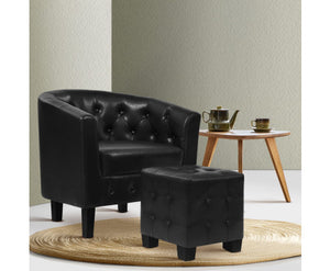 Armchair with Ottoman / Foot Stool