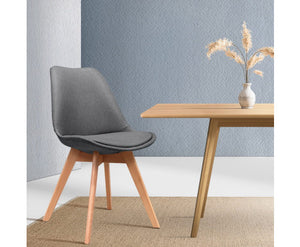 2 x Grey Dining Chairs