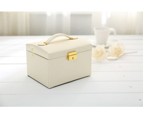Jewellery Box - White with Gold Trim - OUT OF STOCK