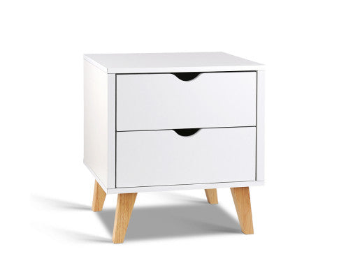 2 Drawer Bedside Table - OUT OF STOCK