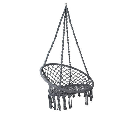 Boho Swing Chair - Grey - OUT OF STOCK