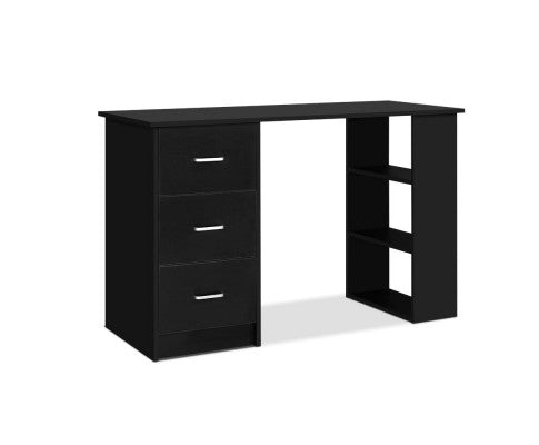 3 Drawer Office Desk - Black