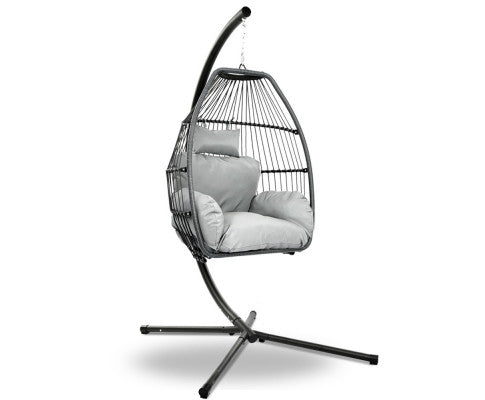Swinging Egg Chair - Grey - OUT OF STOCK