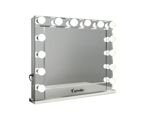 Embellir Make Up Mirror with LED Lights - Silver - OUT OF STOCK