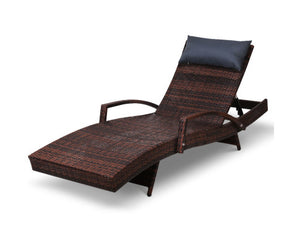 Bedarra Wicker Day Lounge - Brown - OUT OF STOCK