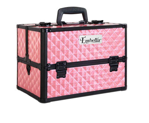 Embellir Portable Cosmetic Case - Diamond Pink