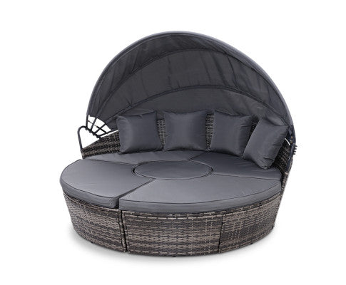 Convertible Outdoor Lounge / Day Bed Setting - Grey - OUT OF STOCK