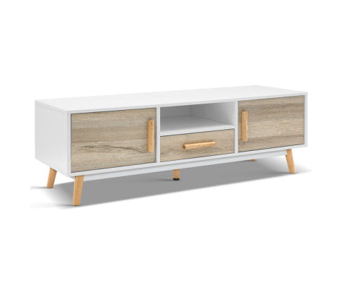 Artiss Scandi Natural & White TV Unit 120CM