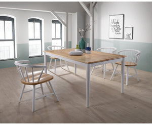 Solid Danish Natural Oak - 6 Seater Dining Table - OUT OF STOCK