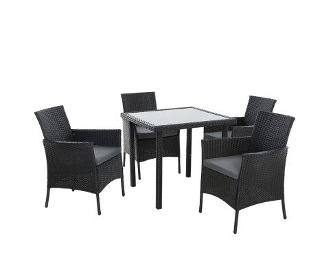 5PC Wicker Patio Setting - OUT OF STOCK