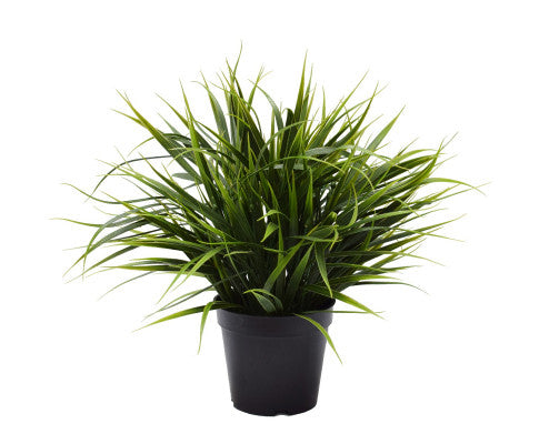 Potted Artificial Dense Green Grass