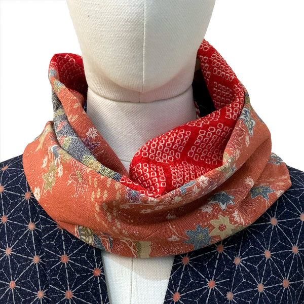 Snood (bleu, orange et rouge)