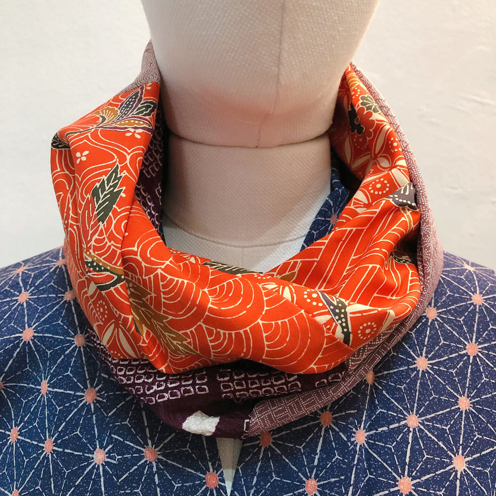 Snood (Orange Bingata de Okinawa )