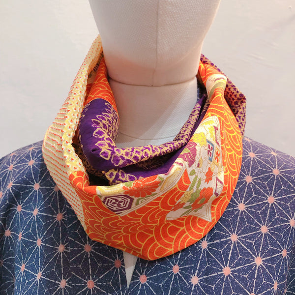 Snood (Orange seigaiha)