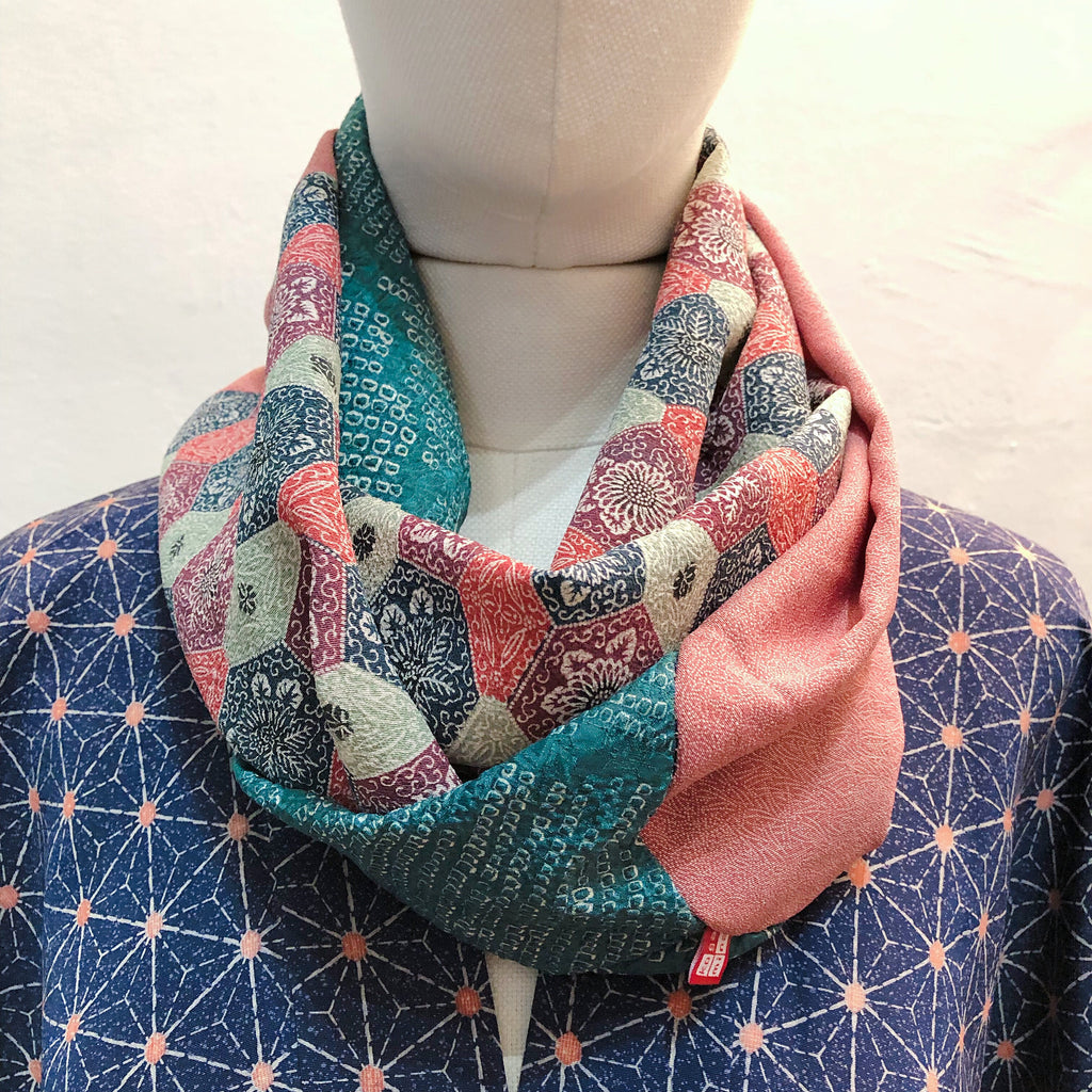 Snood ( Blue et Rose)