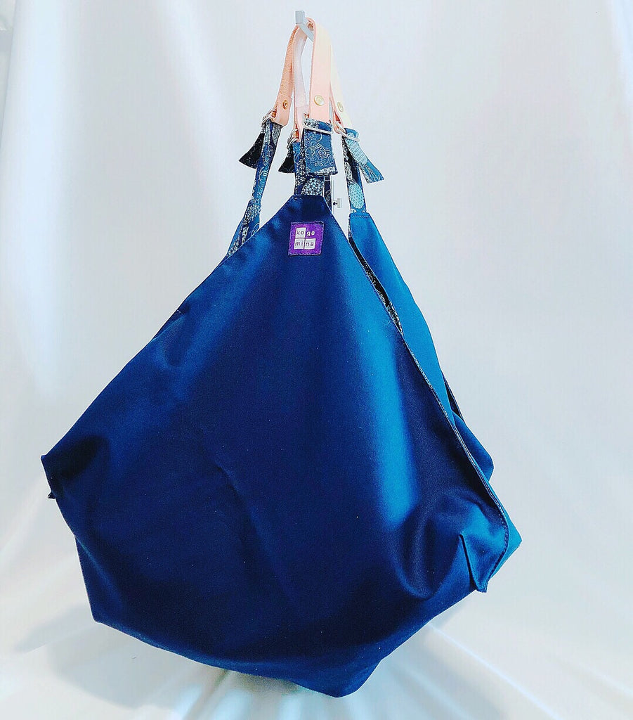 Reversible Square bag Blue Marine