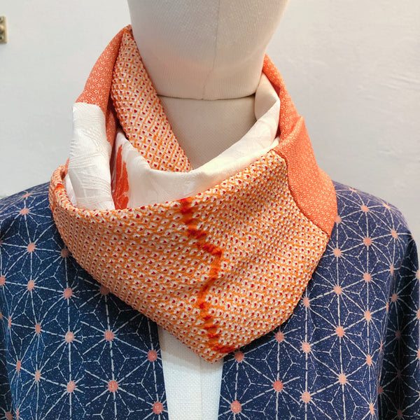 Snood (Orange Shibori)
