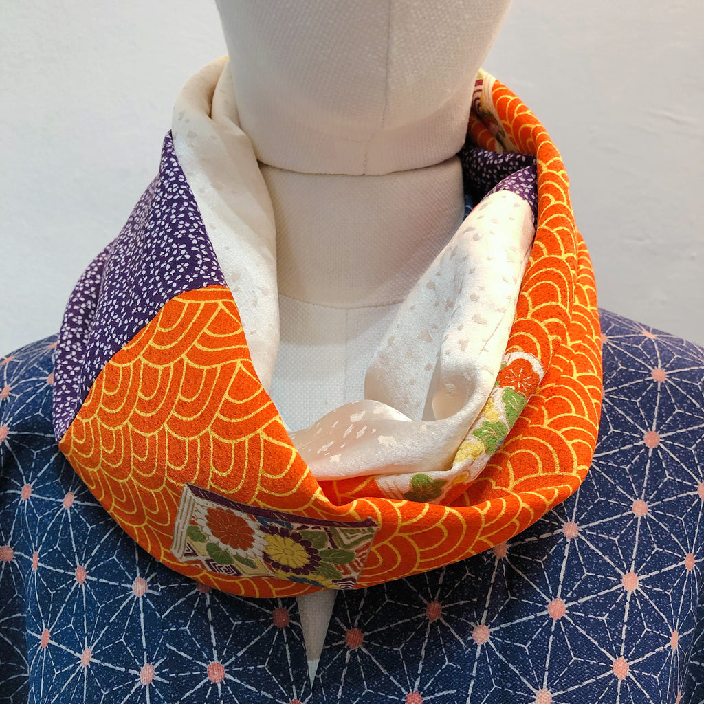 Snood (Orange seigaiga et violet)