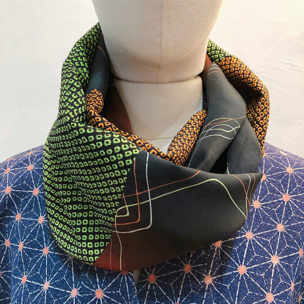 Snood ( Vert et Orange vivid)
