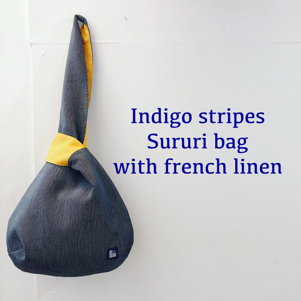 Japanese Indigo stripes Sururi