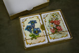 Boxed Set of Austrian Floral Playing Cards