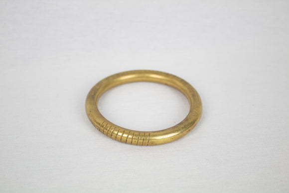 Hollow Brass Tube Bangle