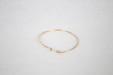 Extra Thin Gold Hook Closure Bangle