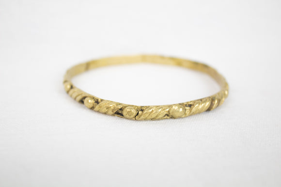 Brass Plated Rope Texture Bangle