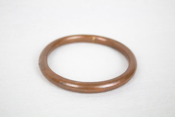 Hollow Copper Plated Tube Bangle