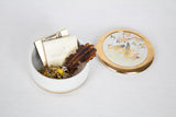 Gold and White Bird Motif Trinket Box