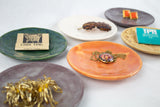 Multicolor Ceramic Appetizer Plates (set of 6)