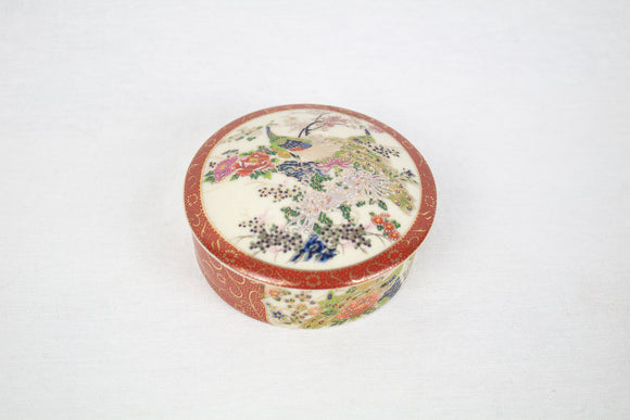 Colorful Peacock Porcelain Trinket Box