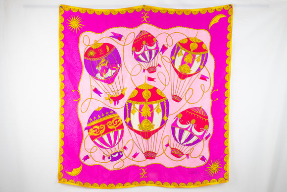 Adrianna Papell Pink Silk Scarf